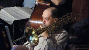 Colin Murray - bass trombone Rex Hotel Orchestra